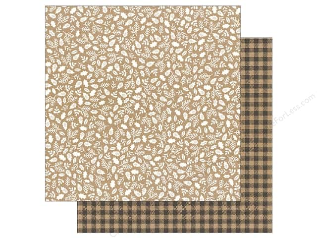 Pebbles Merry Merry Paper  12 in. x 12 in. Kraft Sprigs (25 pieces)