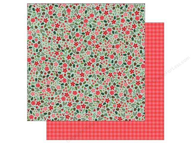 Pebbles Merry Merry Paper  12 in. x 12 in.  Christmas Floral (25 pieces)