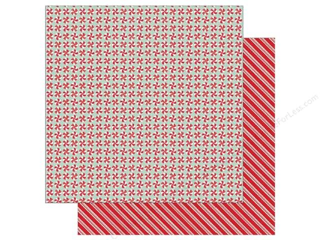 Pebbles Merry Merry Paper  12 in. x 12 in. Peppermints (25 pieces)