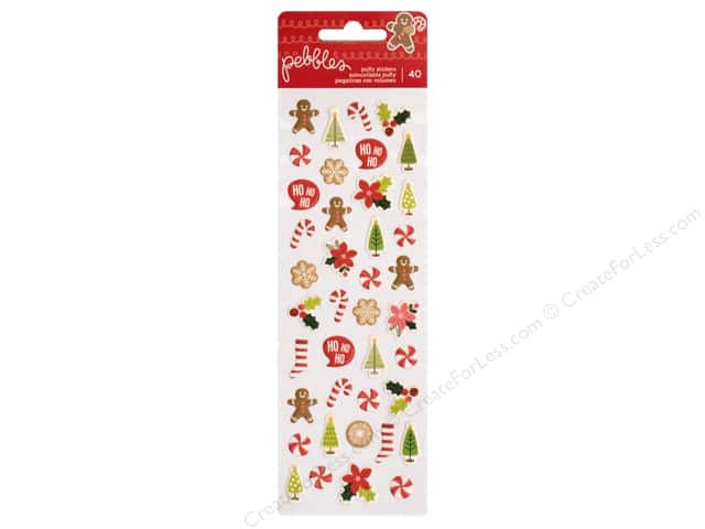 Pebbles Merry Merry Sticker Mini Puffy