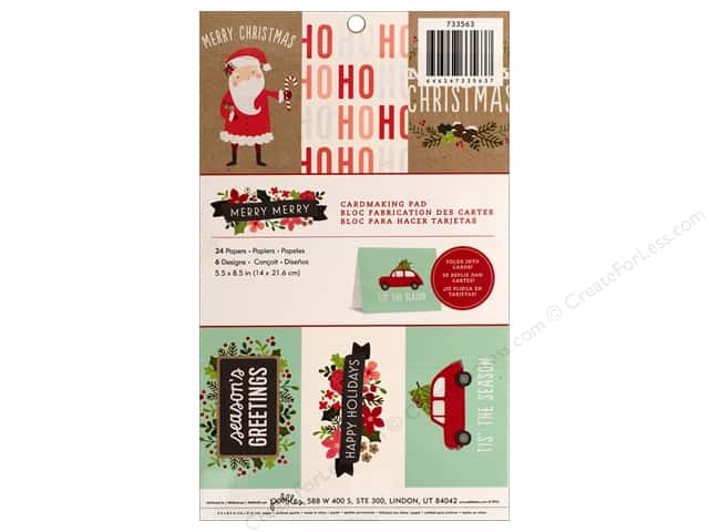"""Pebbles Merry Merry Paper Pad 5.5""""x 8.5"""" Cardmaking"""