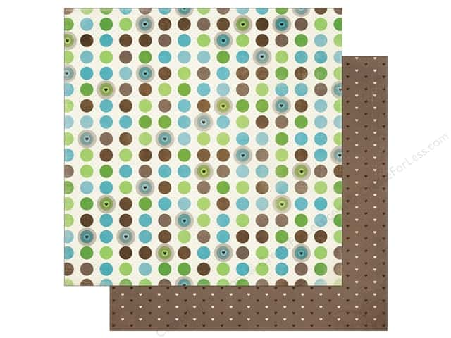 Bo Bunny Penelope Paper 12 in. x 12 in.  Dots (25 pieces)