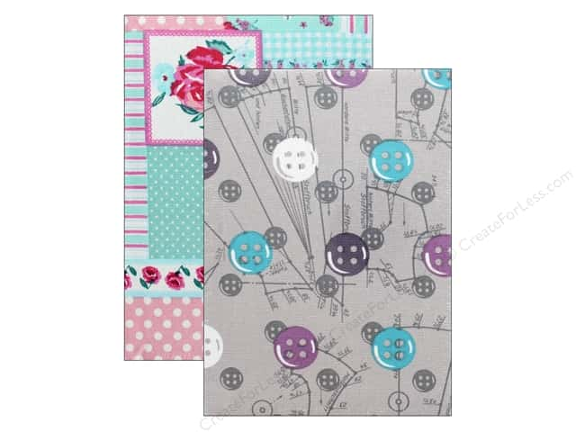 Tacony Notions Notebook Fabric Covered Medium Assorted