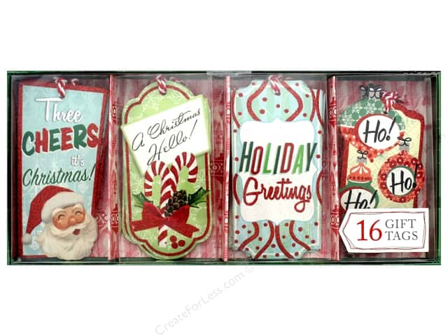 Molly & Rex Gift Tags Holiday Retro 16 pc