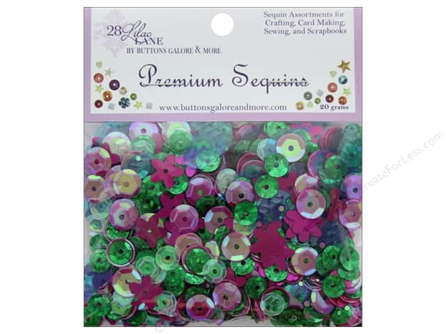 Buttons Galore 28 Lilac Lane Premium Sequins Hibiscus Bloom
