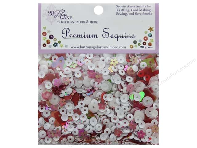 Buttons Galore 28 Lilac Lane Premium Sequins Candy Cane