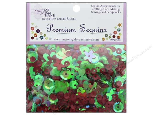 Buttons Galore 28 Lilac Lane Premium Sequins Holiday Wreath