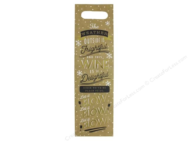 Molly & Rex Bag Holiday Wine Gift Let It Flow
