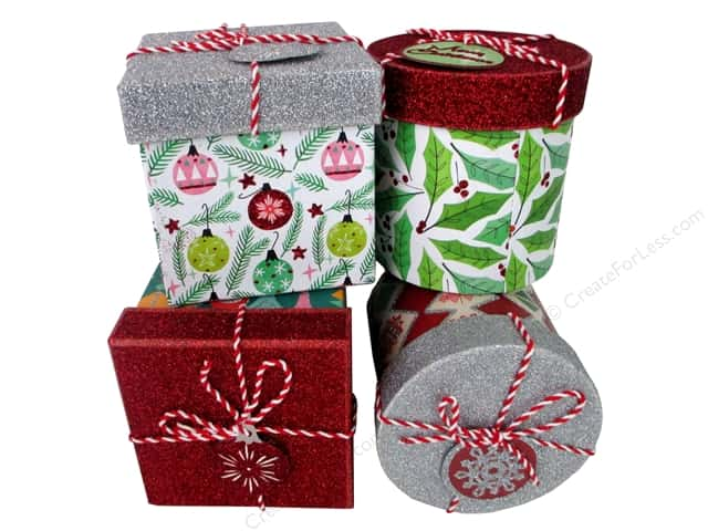Molly & Rex Gift Box Holiday Retro Set of 4