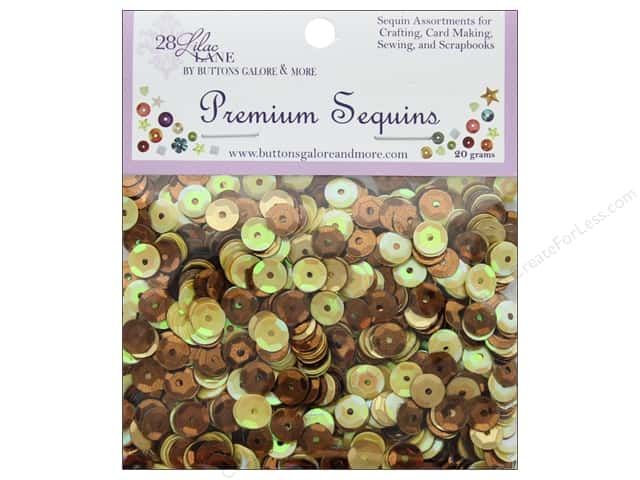 Buttons Galore 28 Lilac Lane Premium Sequins Autumn Afternoon