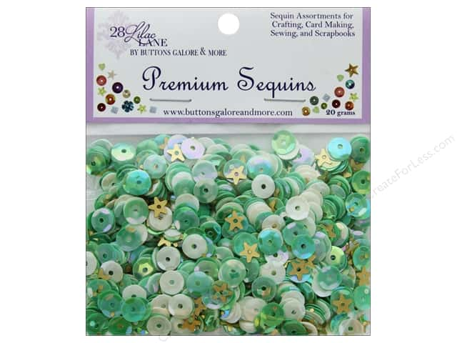 Buttons Galore 28 Lilac Lane Premium Sequins Tea Time