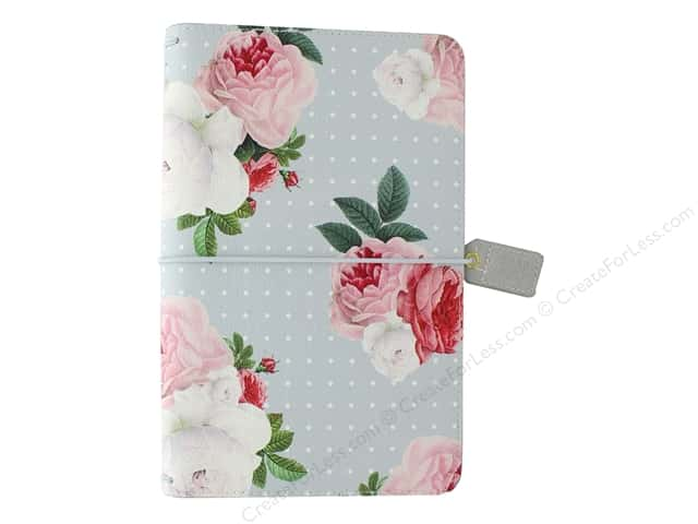 Webster's Pages Color Crush Planner Traveler Gray Floral Book Wrap