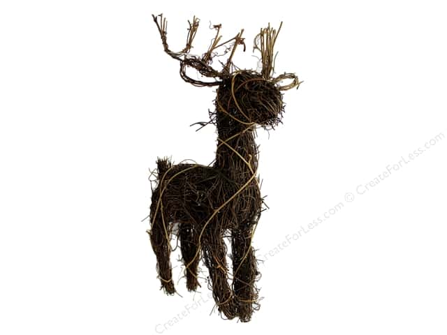 Darice Christmas Angel Vine Deer 14 in. Natural