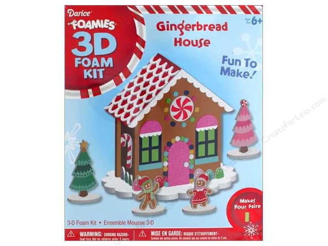Darice Foamies 3D Gingerbread House Kit