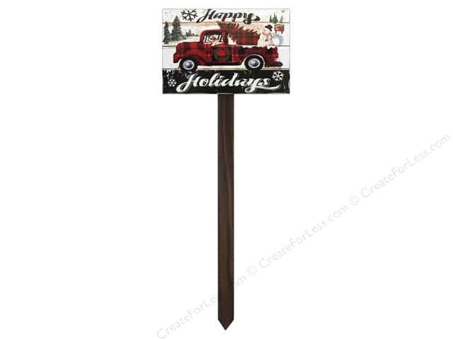 Darice Yardstake Happy Holiday Truck