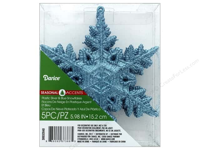Darice Ornament Snowflake 5 pc