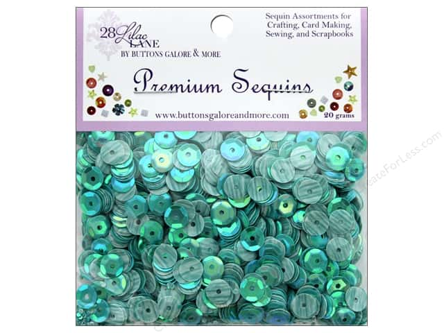 Buttons Galore 28 Lilac Lane Premium Sequins Coral Reef