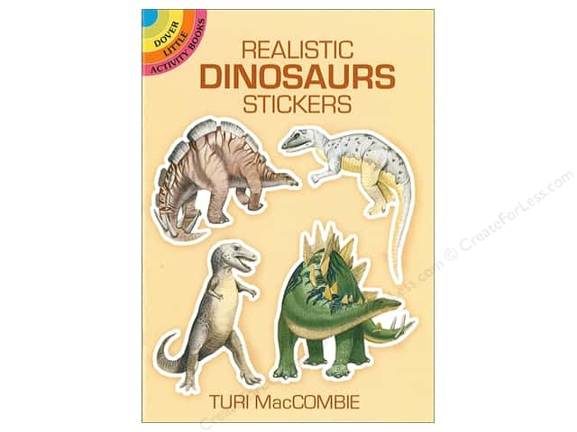 Dover Publications Little Realistic Dinosaurs Stickers Book