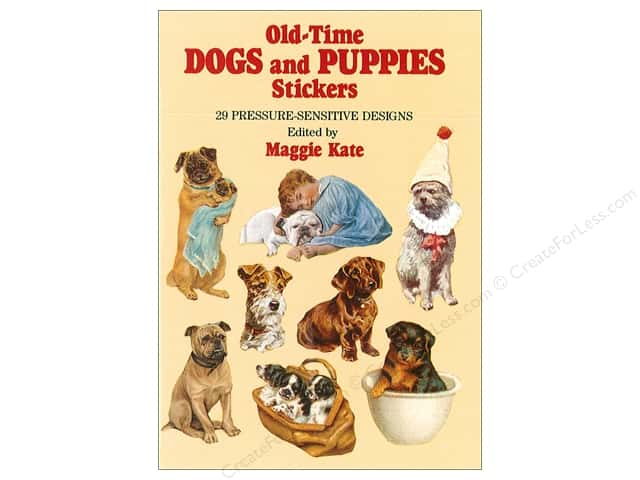 Dover Publications Little Old Time Dogs and Puppies Stickers Book
