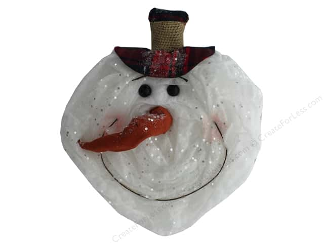 Darice Ornament Snowman Head With Red Hat
