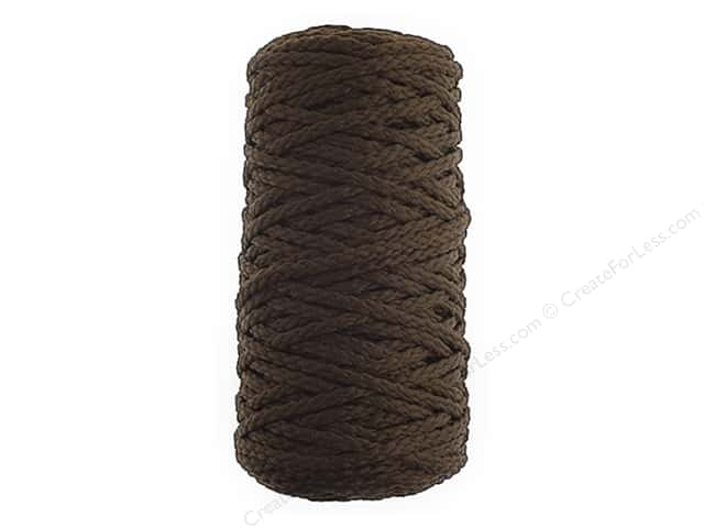 John Bead Braided Macrame Cord 4 mm 70 yd Dark Brown