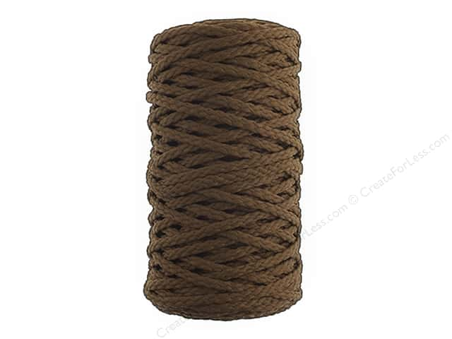 John Bead Braided Macrame Cord 4 mm 70 yd Mocha