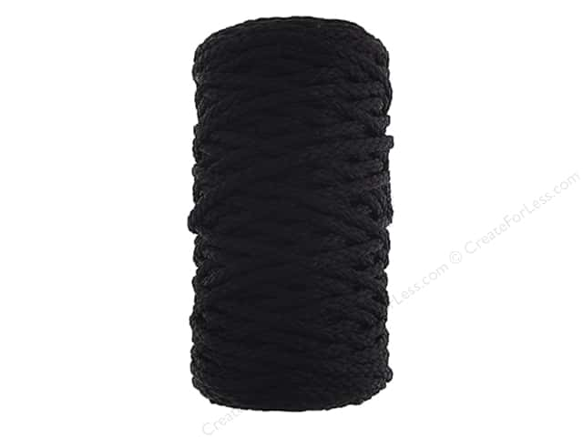 John Bead Braided Macrame Cord 4 mm 70 yd Black