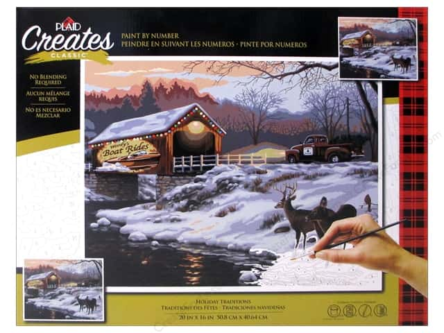 Plaid Paint By Number 20 in. x 16 in.  Holiday Traditions