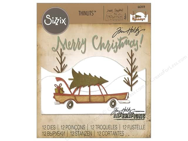 Sizzix Dies Tim Holtz Thinlits Home For The Holidays