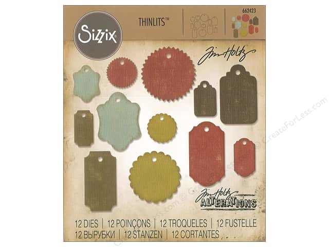 Sizzix Dies Tim Holtz Thinlits Gift Tags