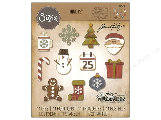 Sizzix Dies Tim Holtz Thinlits Mini Christmas Things