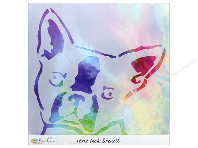 Contact Crafts Ken Oliver Stencil 12 in. x 12 in.  Boston Terrier