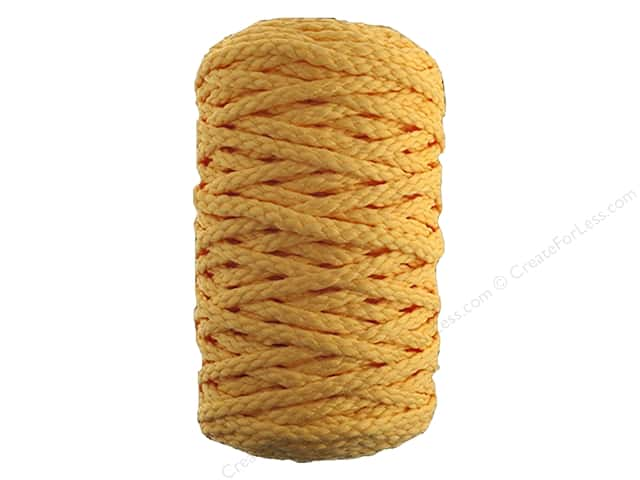 John Bead Braided Macrame Cord 4 mm 70 yd Sunshine Yellow