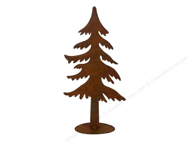 Sierra Pacific Decor Iron Statuette Pine Tree Tall Rust