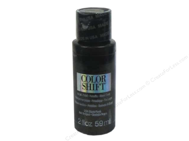 Plaid Folkart Color Shift Paint 2 oz. Black Flash