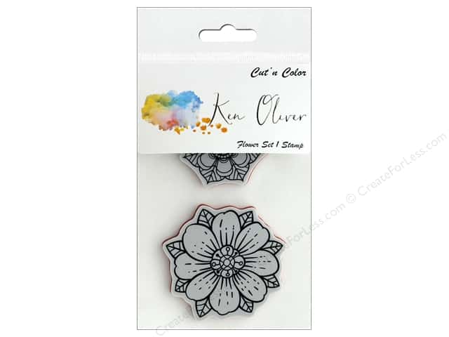 Contact Crafts Ken Oliver Cut N Color Stamp Flower Set 1