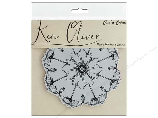Contact Crafts Ken Oliver Cut N Color Stamp Poppy Mandala