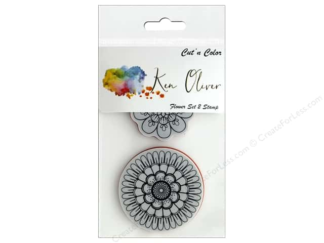 Contact Crafts Ken Oliver Cut N Color Stamp Flower Set 2