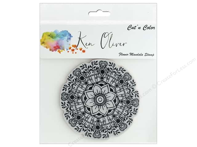 Contact Crafts Ken Oliver Cut N Color Stamp Flower Mandala