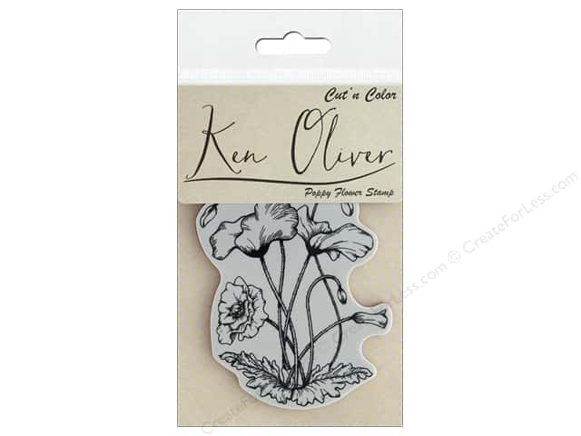Contact Crafts Ken Oliver Cut N Color Stamp Poppy Flower
