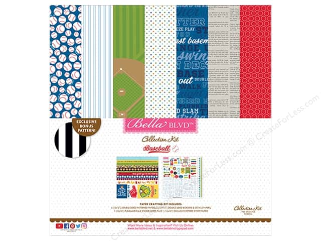 Bella Blvd Baseball Collection Kit 12 in. x 12 in.