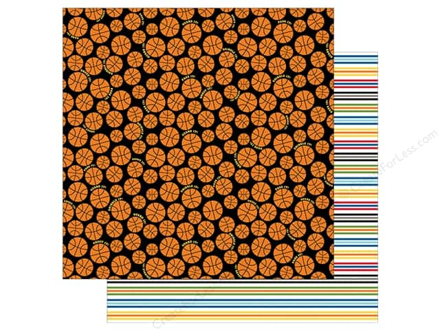 Bella Blvd Basketball Paper 12 in. x 12 in.  Shoot It (25 pieces)