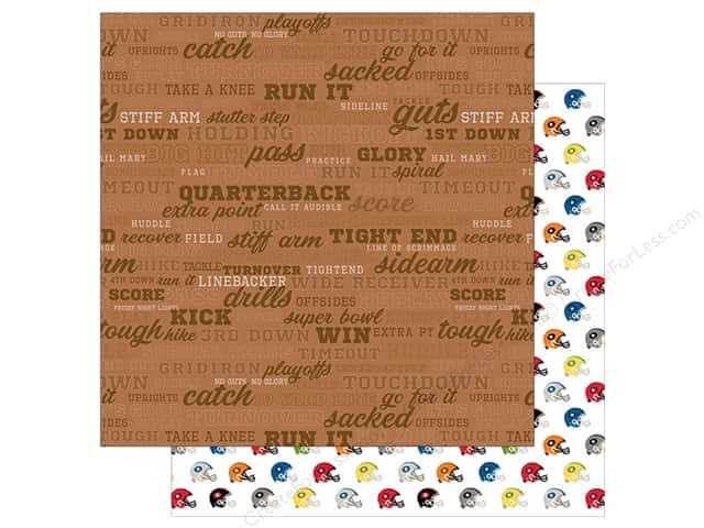 Bella Blvd Football Paper 12 in. x 12 in. Call the Play