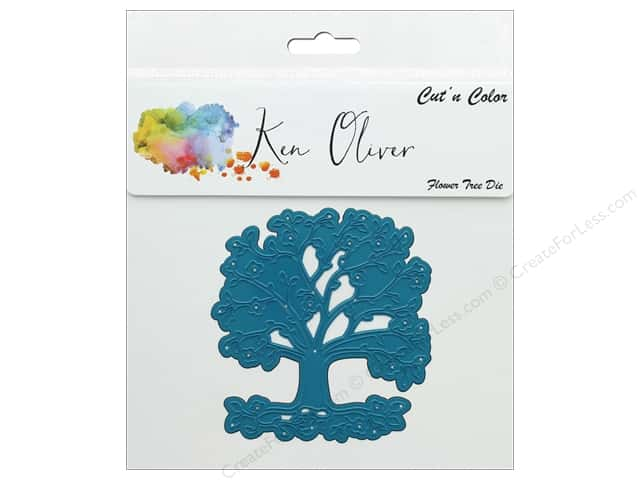 Contact Crafts Ken Oliver Cut N Color Die Flower Tree
