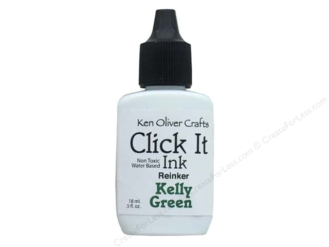 Contact Crafts Ken Oliver Click It Ink ReInker Kelly Green