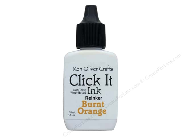 Contact Crafts Ken Oliver Click It Ink ReInker Burnt Orange