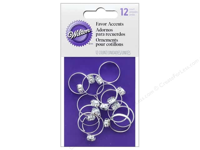 Wilton Accessories Favor Accent Engagement Rings 12 pc Silver