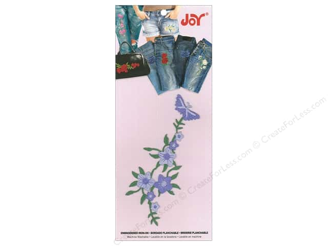 Joy Applique Iron On Butterfly Vine Lavender