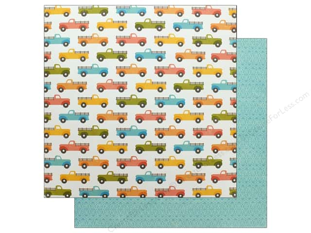 Jillibean Soup Collection Farmhouse Stew Paper 12 in. x 12 in. Hold Your Horses