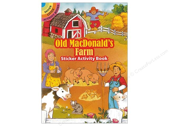 Dover Publications Little Old MacDonalds Farm Sticker Activity Book